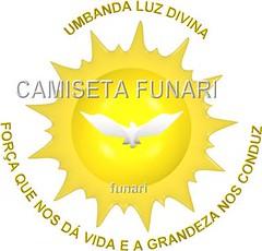 desenho bandeira simbolo umbanda pomba sol