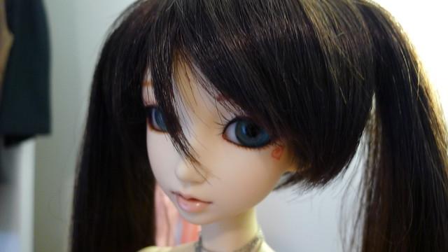 dark wig