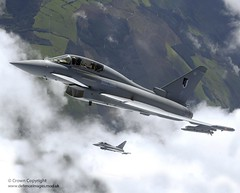 RAF Typhoon Aircraft (Defence Images) Tags: uk clouds aircraft military free eurofighter british defense defence typhoon raf typhoons airtoair fre royalairforce multirole rafphotographiccompetition2005