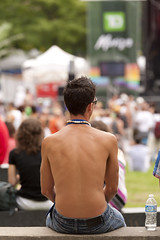 Young Man Watching a Concert