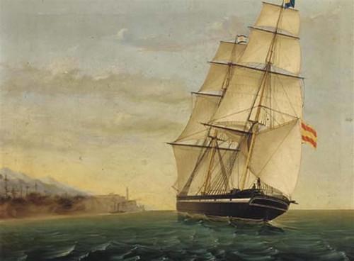 Resultado de imagen de oleo de veleros siglo xviii