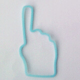 Shaped rubber bands: thumb blue