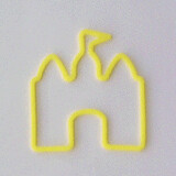 Shaped rubber bands: house yellow