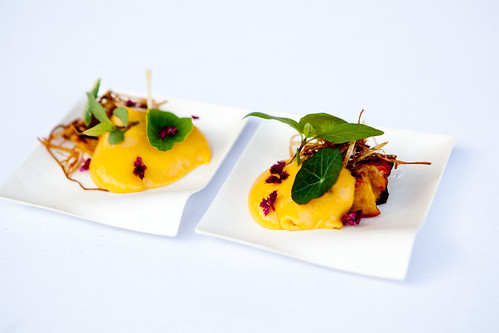 Jeremy Fox's grilled peach dish