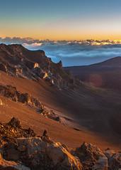 Moonscape (Craig Moy) Tags: morning mountain clouds sunrise volcano hawaii rocks horizon maui haleakala 2010