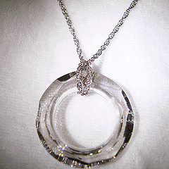 Hollow Round Swarovski Crystal - I used a metal chain to wear it as a pendant