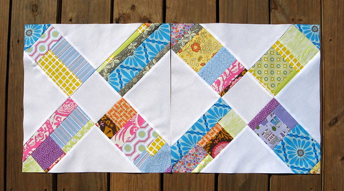 Scrappy Hug blocks for Dena - Bee Modern  Too