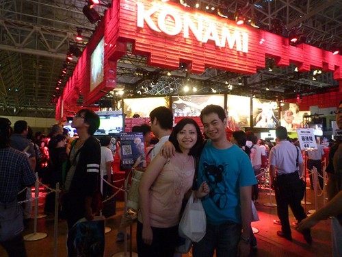 In front of the Konami Booth
