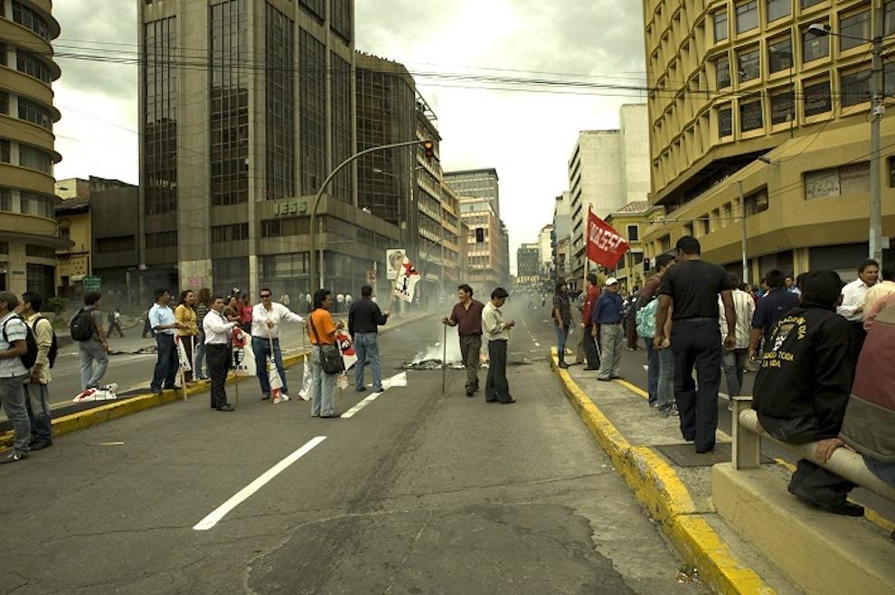 Demonstrators downtown