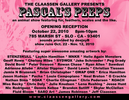 Pascal's Peeps - upcoming art show