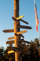 Return to Deer Island 46 (&y) Tags: seaweed west beach sign office east directions exit orcasisland westbeachresort