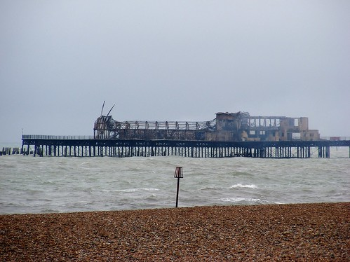 Hastings Pier Burnt Down 035
