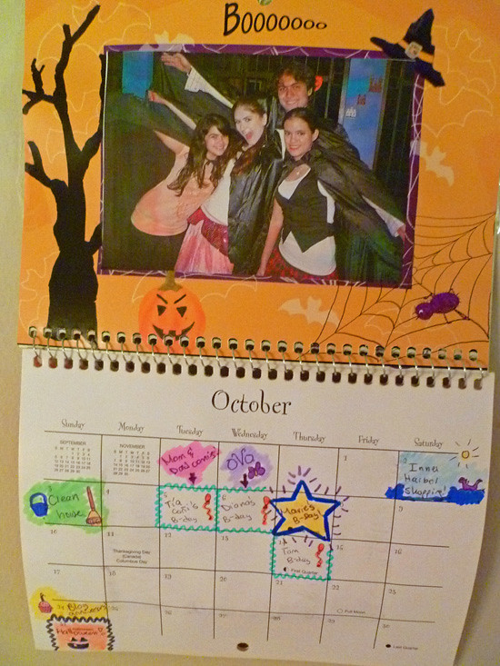 Calendar - October