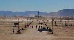 Center Camp from The Man (jlaux42) Tags: dusty nikon desert nevada playa burningman blackrockcity dust centercamp theman blackrockdesert d40 lamplights blackrockmountains 18105vr burningman2010 bm2010
