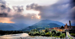 La quiete dopo la tempesta - The quiet after the storm (Isabella C. Soniak) Tags: light sunlight storm river landscape quiet hdr emiliaromagna bobbio flickrdiamond