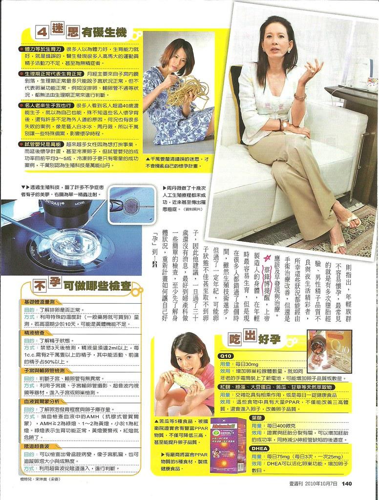 破除迷思好孕勢--2010年10月7日壹週刊訪問蔡鋒博醫師3