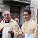 Don Cosimo Leone e Don Francesco Richiusa durante la processione