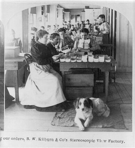 Factoria de B. W. Kilburn hacia 1895