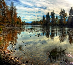 Bitterroot River, Montana (SheldonPhotography) Tags: autumn trees fall canon river landscape pond montana missoula photograph bitterroot rebelxti sheldonphotography