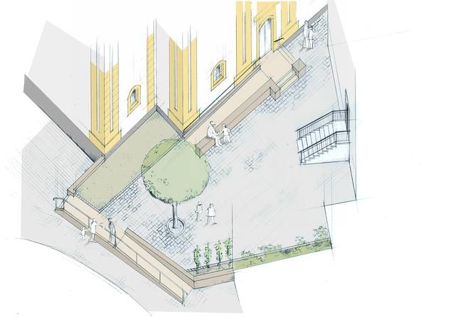 3D Entwurf Innenhof Rödelsee