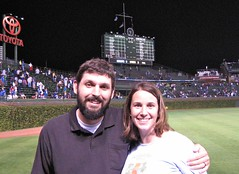 Andy and Michelle at Wrigley Field