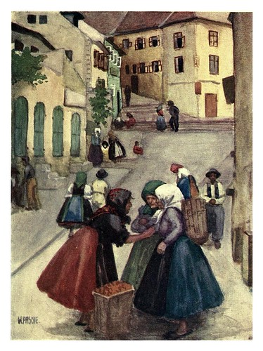 005-Escena callejera en Pozsony Hungria-Hungary and the Hungarians 1908- Bovill W.B Forster