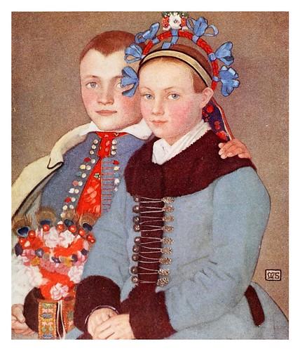 017-Jovenes campesinos hungaros comprometidos en matrimonio-Hungary-1911-Adrian y Marianne Stokes