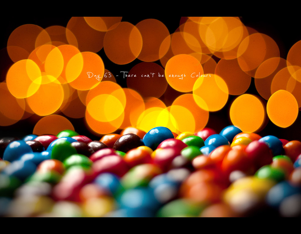Candy, M&M, M & M, M and M, M&Ms, M & Ms, M and Ms, Project 365, project365, Day 63, 063/365, bokeh, colours, colors, coloursfull, colorfull, 50mm, canon 40D, Canon 50mm f1.8, strobist