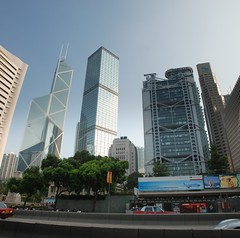 Reach for the Sky (BenTheCook) Tags: panorama hongkong bankofchinatower   hsbcmainbuilding cheungkongcenter