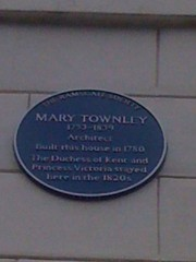 Photo of Mary Townley, Victoria of Saxe-Coburg-Saalfeld, and Victoria blue plaque