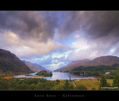 Loch Shiel Glenfinnan (Kit Downey) Tags: morning autumn color colour clouds sunrise dawn scotland highlands october earlymorning scottish explore historicscotland hdr lochshiel glenfinnan cloudscapes rainclouds realistic lochaber westhighlands jacobite bonnieprincecharlie scottishlandscape scottishhistory explored glenfinnanmonument scottishloch glenfinnanhousehotel tokina1116mmf28 glenfinnanmemorial kitdowney canoneos550d canont2i