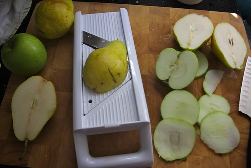 apple pear slicing