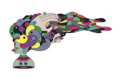 the ministry of elborate hair-dos (scott balmer) Tags: color colour illustration graphic vector retor