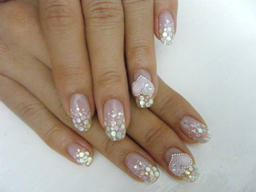 Beauty Nails Sexy Nail Art Gel Nail With Glitter And Hologram
