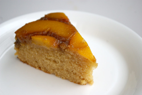 Peach Upside Down Cake slicef