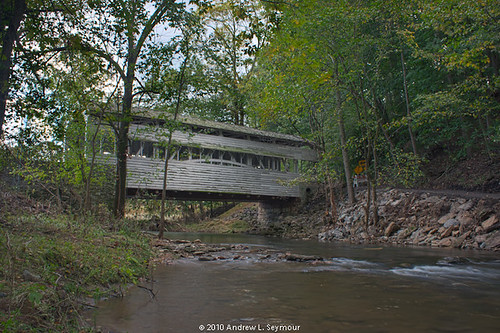 Knox-Valley Forge Covered Bridge (Up Creek) hdr 07