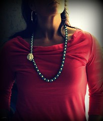 Vera Rose and Ribbon Necklace (twillypop) Tags: fashion pearls trendy hip antiqueblue ribbonnecklace twillypopblu