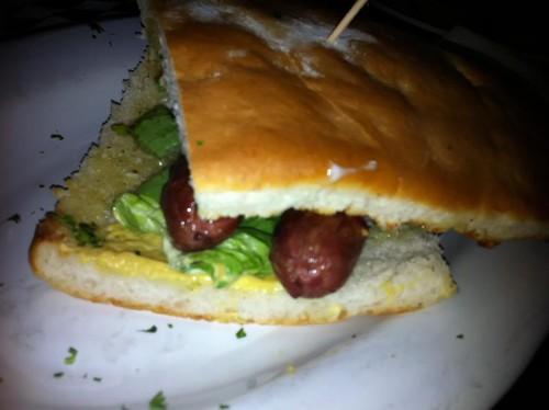 Beef Frank Sandwich