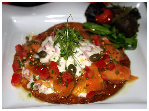 salmon raita starter