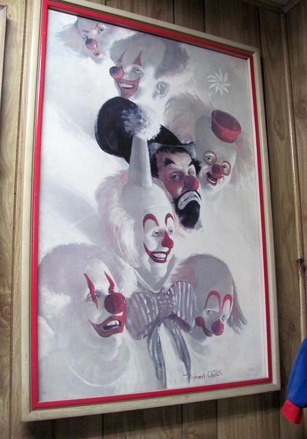 One last lovely bit of clown art...