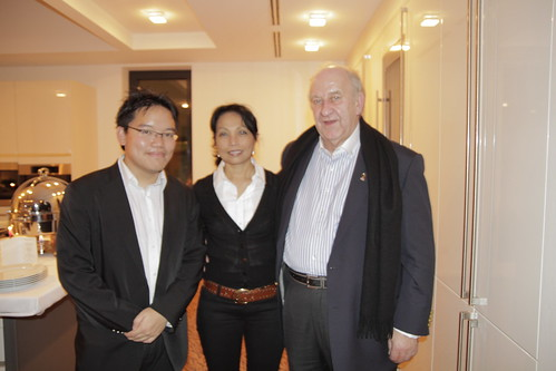 With Datuk Edgar Nordmaan, Honorary Consul General of Malaysia, and his wife the Datin