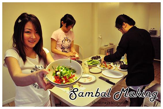 Pre-Birthday Preparation: Home Made Sambal
