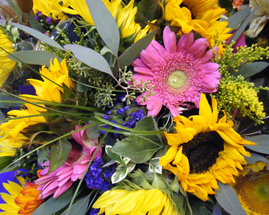 Fall Bouquet with Sunflowers