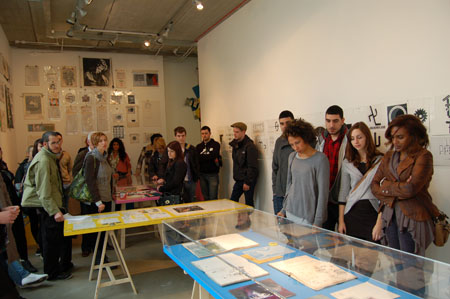 Barney Bubbles exhibition: Graphic communications students from Kingston University