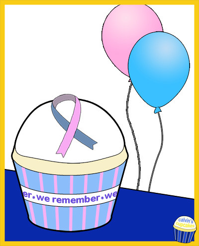 Pregnancy and Infant Loss Remembrance Cupcake