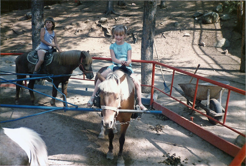 horse at Santa Claus Village July 1985