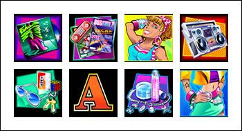 free Crazy 80s slot game symbols