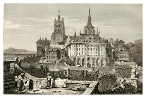 001-Lausanne-The tourist in Switzerland and Italy-1830-Samuel Prout