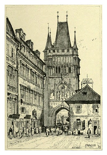 037-Praga-Sketches by Samuel Prout in France Belgium….1915