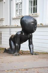 Crawling baby by David Černý